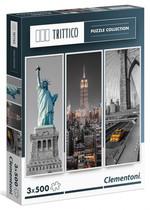 Clementoni 3X500 Parça Puzzle Trittico - New York 39305