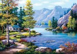 Art Puzzle Göl Evi 2000 Parça