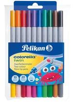 Pelikan Colorella-Twin C304 Çift Tarafli 10'lu Keçeli Kalem PLKN949511