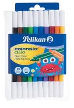 Pelikan Colorella-Duo Çift C407 Renkli 10'lu Keçeli Kalem PLKN973172