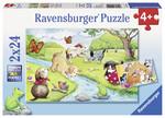 Ravensburger 2X24PPuzzle Hayvanlar 091942
