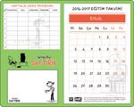 Saftirik Magnetli Takvim+Ders Programı+Yapıkanlı Not Kağıdı