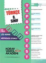 8. Sınıf Türkçe Yaprak Testi