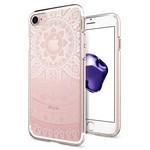 Spigen iPhone 7 Kılıf, Liquid Crystal 4 Tarafı Tam Koruma Shine Pink