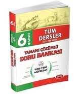 6. Sınıf Tüm Dersler Özel Tek Kitap Tamamı Çözümlü Soru Bankası