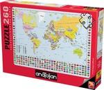 Anatolian Puzzle Dünya Siyasi Harita