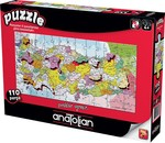 Anatolian Puzzle Türkiye Haritası İller