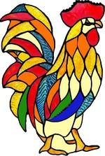 Dekoratif Cam Takısı Horoz