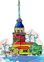 Dekoratif Cam Takısı Kız Kulesi