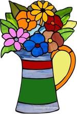 Dekoratif Cam Takısı Vazolu Çiçek