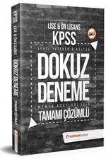 KPSS GY-GK Dokuz Deneme Tamamı Çözümlü