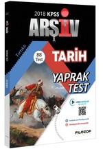 2018 KPSS Tarih Yaprak Test