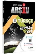 2018 KPSS Türkçe Yaprak Test