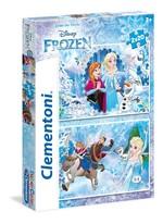 Clementoni-Frozen 2x20 Parça Puzzle 24745