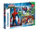 Clementoni-Ultime Spiderman 3x48 Parça Puzzle 25217