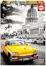 "Edu-Puz. 1000 Taxı In Havana, Cuba ""Coloured Black & Whıte"" 17690"