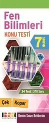 7. Sınıf Fen Bilimleri Çek Kopar Konu Testi