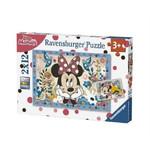 Ravensburger - Minnie Çiçekler 2x12 Parça Puzzle 76192