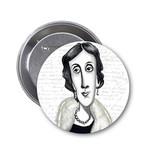 Aylak Adam Hobi-Virginia Woolf Karikatür Rozet