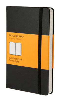 Moleskine Pocket Ruled Hard Cover Notebook - Çizgili Siyah Defter
