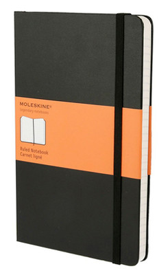 Moleskine Large Ruled Hard Cover Notebook - Çizgili Siyah Defter
