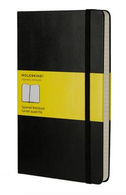 Moleskine Large Squared Hard Cover Notebook - Kareli Siyah Defter