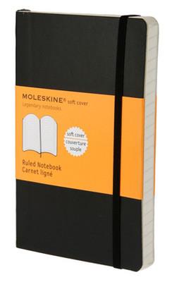 Moleskine Pocket Ruled Soft Cover Notebook - Çizgili Siyah Defter