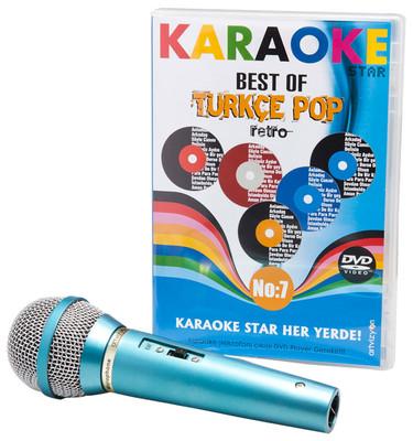 Karaoke Star 7 Best Of Türkçe Pop- Retro -DVD (Mikrofon Hediyeli)