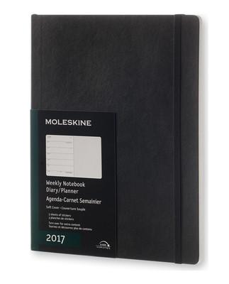 Moleskine 2017 12Aylık Haftalık Ajanda Yumuşak Kapak Siyah XL 19x25