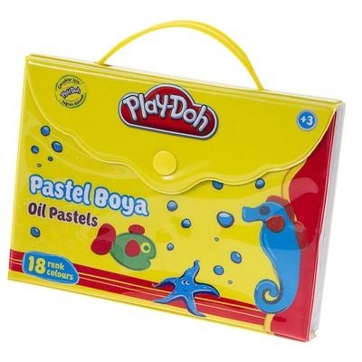 Play-Doh 18 Renk Pastel Boya Çantalı PLAY-PA006