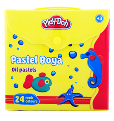Play-Doh 24 Renk Pastel Boya Çantalı PLAY-PA007