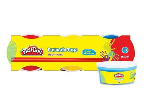 Play-Doh 3 Renk Parmak Boyası 40ml. PLAY-PR002