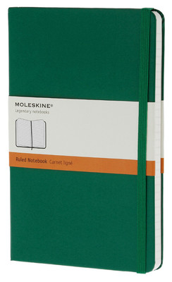 Moleskine Pocket Ruled Hard Cover Notebook - Çizgili Yeşil Defter