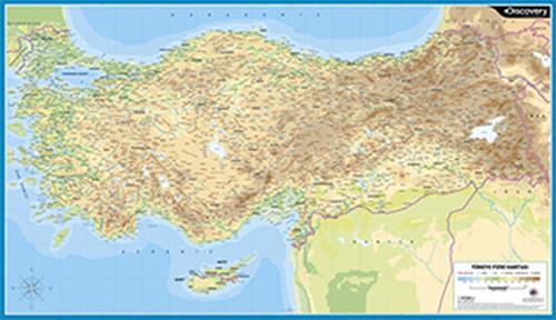 Discovery Duvar Harita 60X100 Türkiye Fiziki