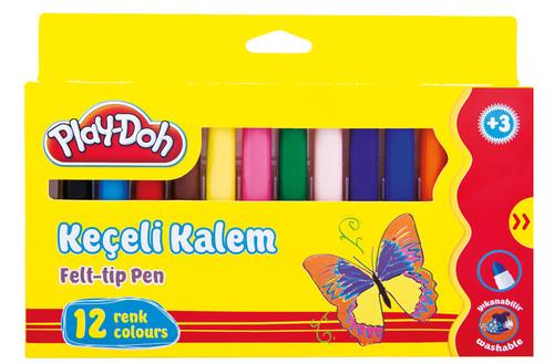 Play-Doh 12 Renk Keçeli Kalem Karton Kutu 8mm PLAY-KE008