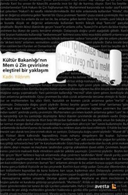 Kültür Bakanlığı'nın Mem u Zin Çevirisine Eleştirel Bir Yaklaşım