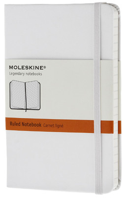 Moleskine Pocket Ruled Hard Cover Notebook - Çizgili Beyaz Defter
