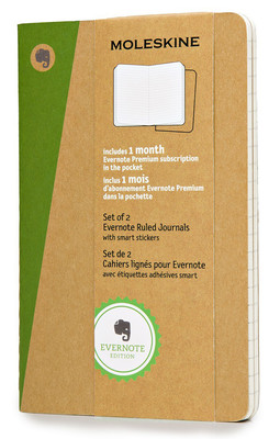 Moleskine Evernote Smart Ruled Journal Pocket Notebook (Çizgili)