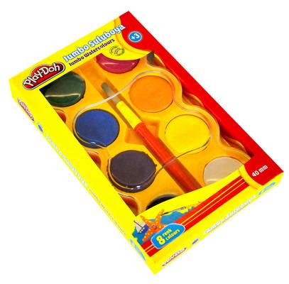Play-Doh 8 Renk Jumbo Sulu Boya 40 mm Play-Su005