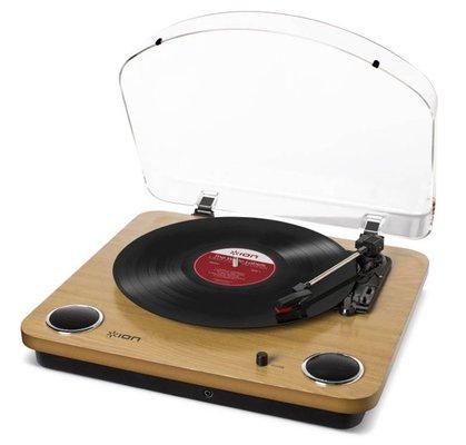 Ion Audio MaxLP Speakerlı Açık Renk Ahşap Pikap