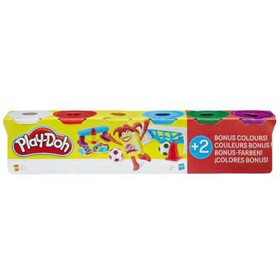 Play-Doh 6'Lı Hamur (6X112Gr) - Temel Renkler B6755