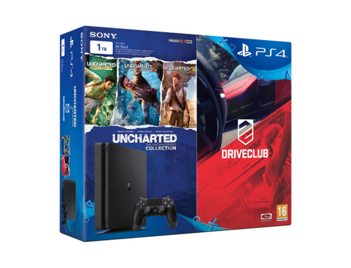 Sony PlayStation 4 - PS4 1 TB Driveclub + Uncharted Collection