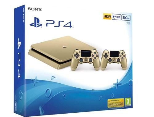 Sony PlayStation 4 - Çift Dualshock 4 Kumandalı PS4 500 GB Gold Oyun Konsolu