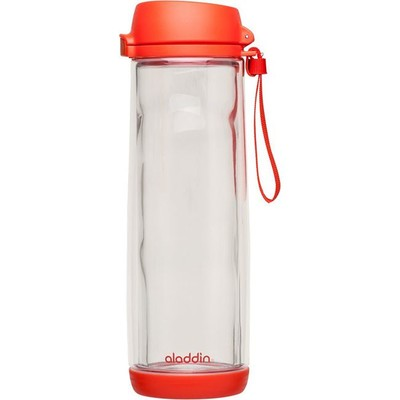 Alad-Glass Lined Water Bottle Kırmızı Matara 0.53L