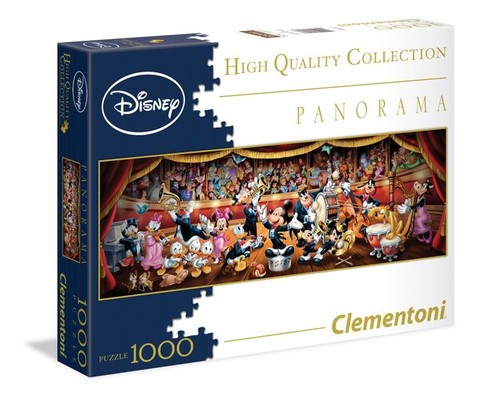 Clementoni- Disney Panorama Classic 1000 Parça Puzzle 39347