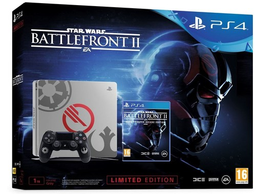 PS4 1TB E SW Ltd. Ed + Star Wars BattleFront II Deluxe
