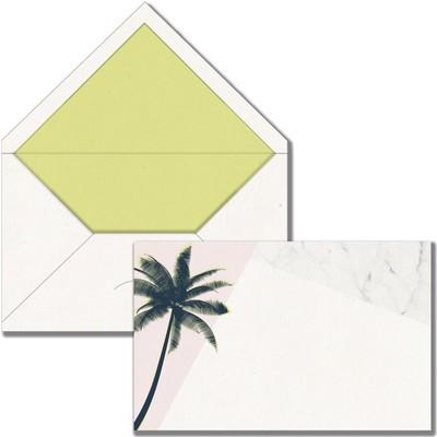 Maritera Tropikal Palmiye Tebrik Kartı