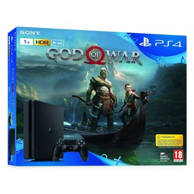 PS4 1TB E + God of War