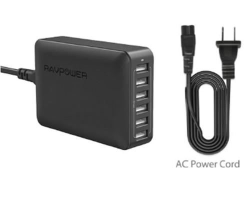 Ravpower Duvar Şarj Cihazı 6 USB, 12000mA