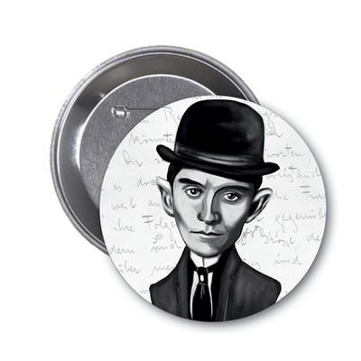 Aylak Adam Hobi-Franz Kafka Karikatür Rozet